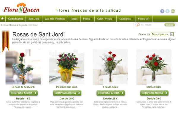 Regalar rosas baratas para Sant Jordi: las mejores ofertas