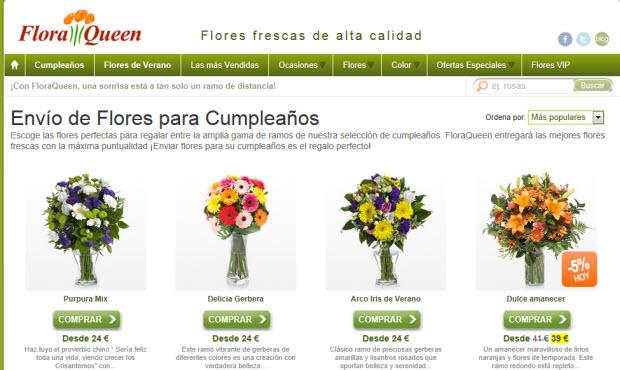 Regalar flores para el cumpleaños