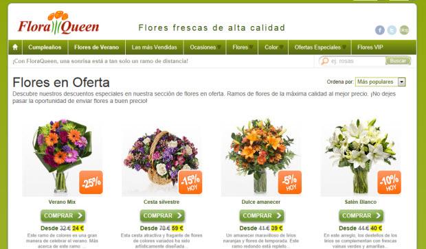 Flores baratas por internet