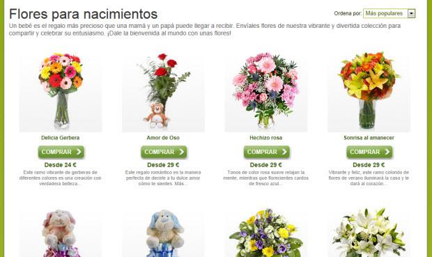 Flores para nacimiento