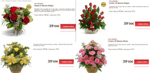 regalar rosas para san valentin