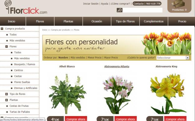 Mandar flores baratas a domicilio