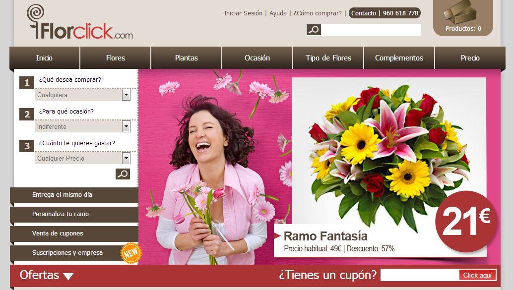 Florclick: regalar flores para el Día de la Madre