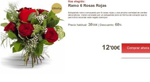 Mandar rosas por Internet con Florclick
