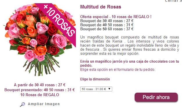 regalar rosas dia de la madre 2014