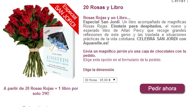 rosas sant jordi y libro