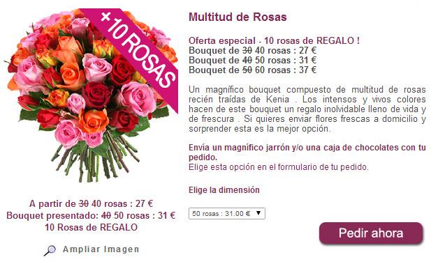 comprar rosas por internet