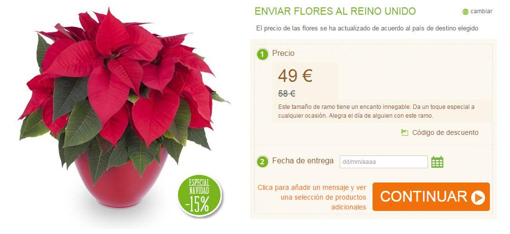 enviar flores de pascua al extranjero