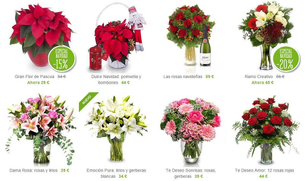 flores de navidad al extranjero