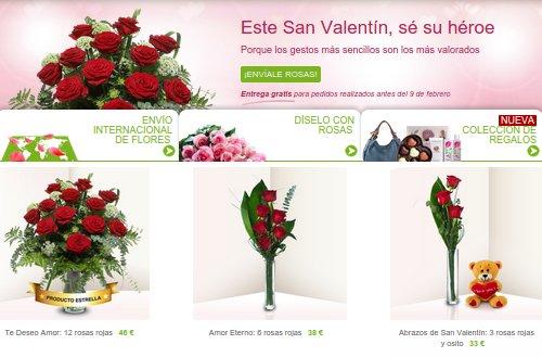 Rosas San Valentín 2015: flores online baratas y a domicilio