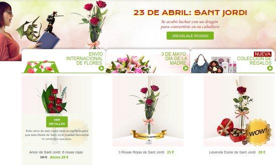 Flores Sant Jordi a domicilio 2015