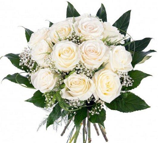 Ramos De Rosas Blancas Baratas A Domicilio Y Para Novias - Imagenes-de-ramos-de-rosas-blancas
