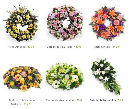 Coronas funerarias baratas