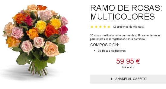 rosas naranjas online