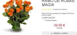 rosas naranjas precios