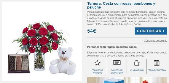 Rosas y bombones por internet