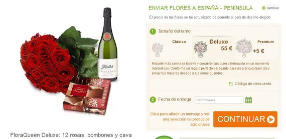 Rosas y bombones a precios baratos, por internet y a domicilio