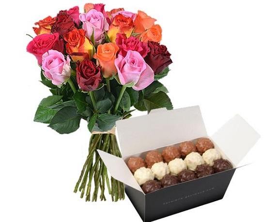 rosas y bombones a domicilio