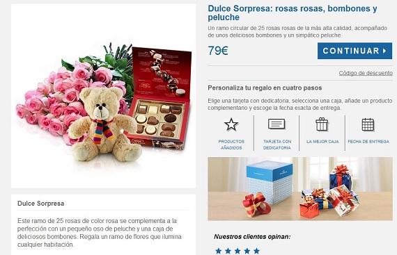 rosas y bombones regalar