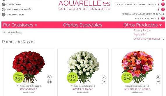 Aquarelle: opiniones y precios de ramos de flores y gourmand