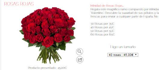 flores san valentin online 2016