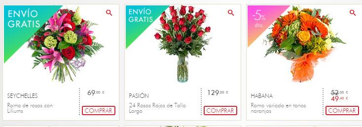 ofertas flores san valentin 2016