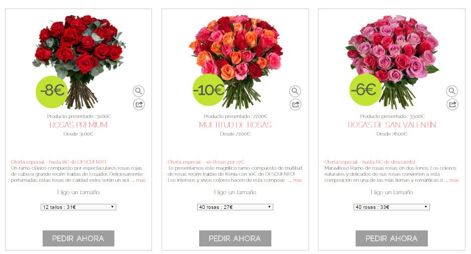 regalar rosas san valentin