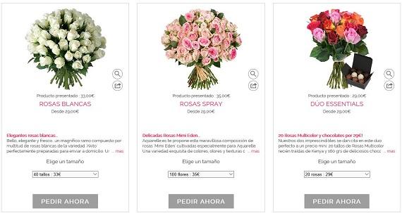 bouquet de flores barato
