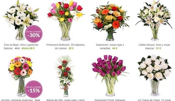 cestas de flores naturales online baratas y a domicilio
