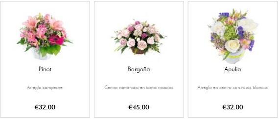 cestas de flores baratas