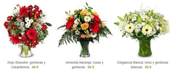 cestas de flores naturales