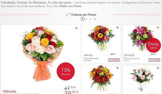 Flores para cumpleaños baratas online a domicilio