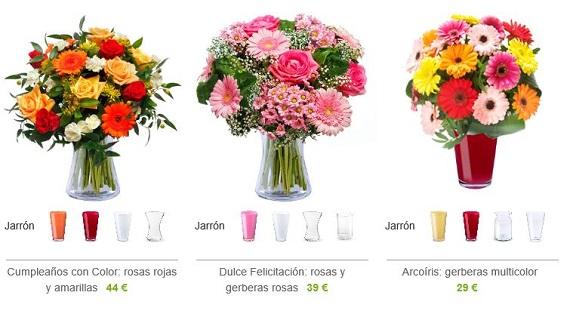 flores con jarrón opiniones