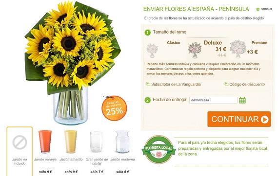 flores con jarrón para regalar