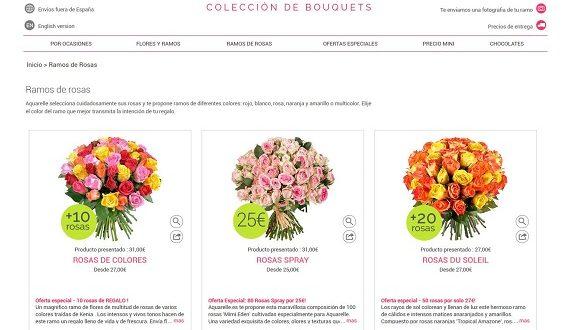 Flores para felicitar baratas por Internet y a domicilio