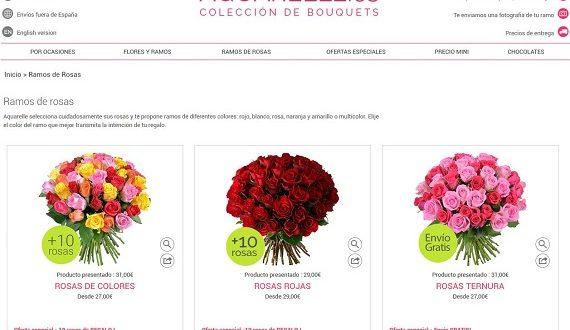 Comentarios de Aquarelle: opiniones de precios, ofertas, envíos y rosas
