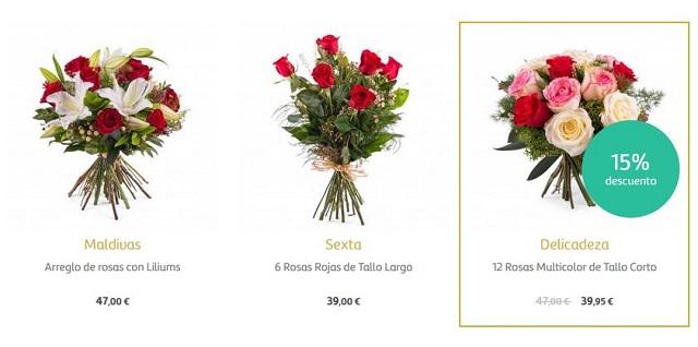 Flores san valent n 2018 baratas online y a domicilio rosas for Donde venden plantas baratas