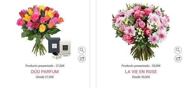 flores san valentín online