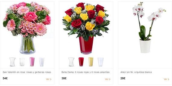 ramos de flores san valentin por Internet