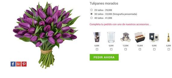 ramos de tulipanes a domicilio