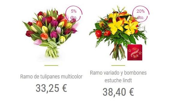 ramos de tulipanes baratos