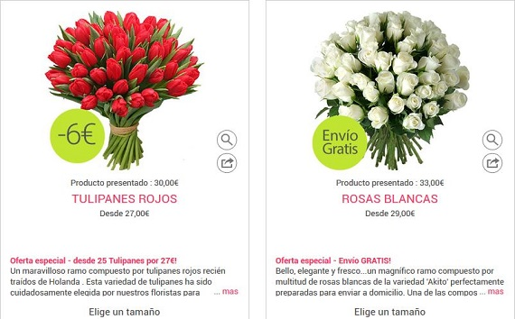 ramos de tulipanes ofertas