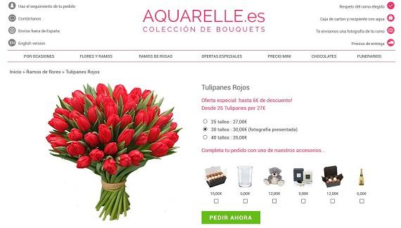 ramos de tulipanes online