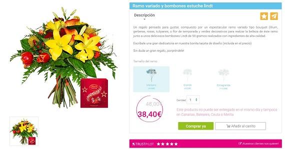 ramos de tulipanes precios