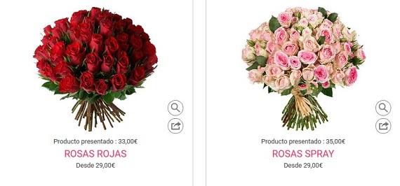 mandar ramos de rosas baratas