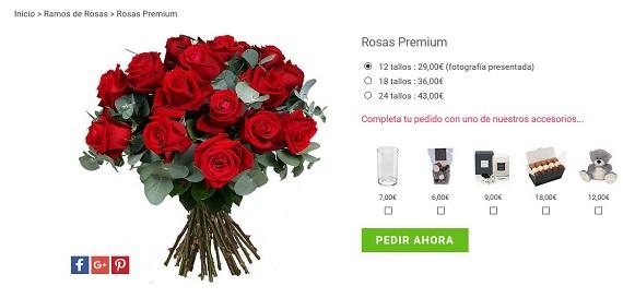 mandar ramos de rosas rojas