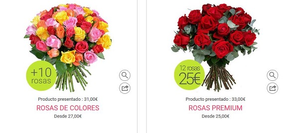rosas dia de la madre baratas