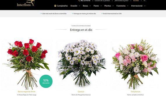 Mejores floristerías baratas online de España con envío a domicilio