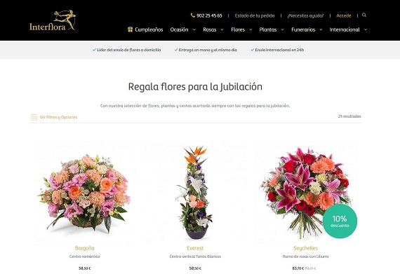 Flores Para Jubilacion 2019 Baratas Y Online Ramos Y Centros Originales