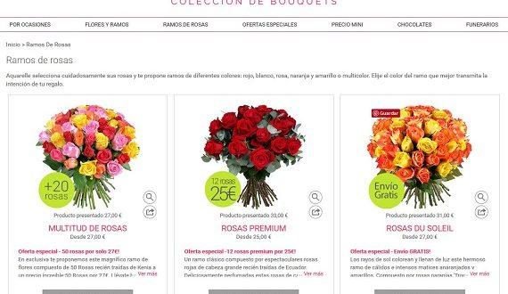 Ofertas de flores y bombones a domicilio: flores baratas online